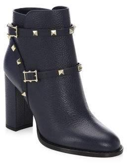 Valentino Garavani Rockstud Leather Ankle Booties