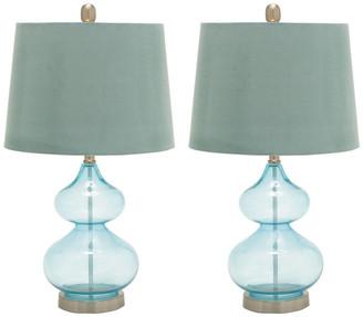 Uma Enterprises Set Of 2 25In Glass Table Lamps