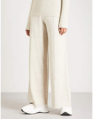 Pringle Wide-leg wool and cashmere-blend trousers