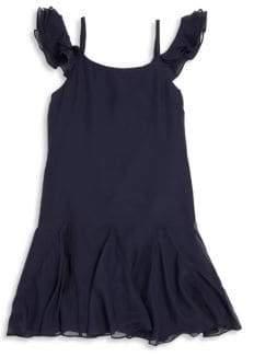 Ralph Lauren Toddler's, Little Girl's,& Girl's Ruffled Silk Dress