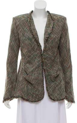 Theyskens' Theory Tweed Pattern Long Sleeve Blazer