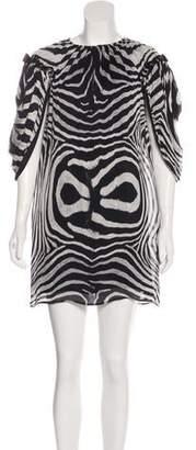 Just Cavalli Silk Mini Dress