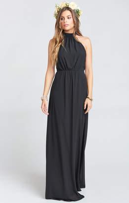 Show Me Your Mumu Collette Collar Dress ~ Black Chiffon