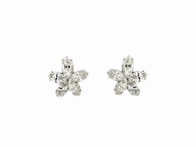 Lucie Campbell All Diamond Flower Studs