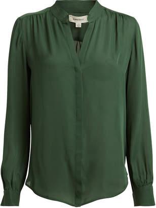 L'Agence Bianca Silk Button Down Blouse