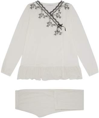 La Perla Polka Dot Lace Pyjamas