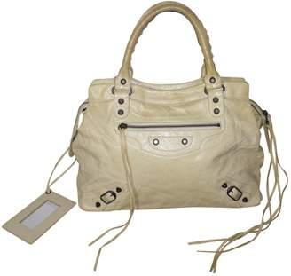 Balenciaga White Leather Handbag