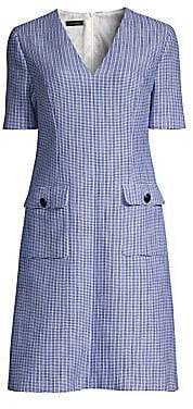 Escada Women's Duanne Basketweave Print Short-Sleeve Shift Dress