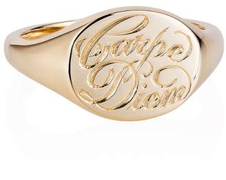 Laura Lee Jewellery Carpe Diem Signet Ring - Yellow Gold