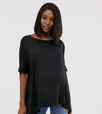 Asos DESIGN Maternity oversized kimono t-shirt with v back