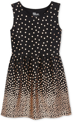 Epic Threads Girls' Gold Dot Fit-and-Flare Dress, Only at Macy's $48 thestylecure.com