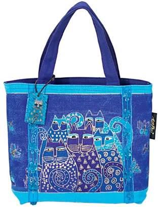 "Laurèl Burch Mini Bag 11""X3""X8""-Indigo Cats"