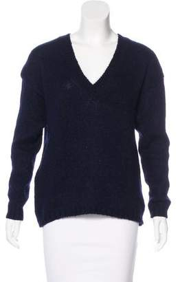 Tibi Long Sleeve V-Neck Sweater
