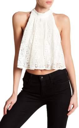 Line & Dot Lace Halter Crop Top $97 thestylecure.com