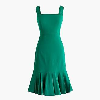 J.Crew Stretch faille dress with fluted hem