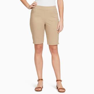 Gloria Vanderbilt 10 Modern Fit Twill Bermuda Shorts-Petites