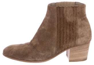 Vince Suede Round-Toe Ankle Booties