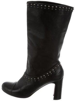 pradaPrada Studded Leather Boots