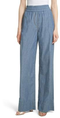 Elizabeth and James Anika Wide Leg Chambray Pants