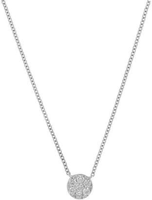 Bony Levy 18K White Gold Diamond Cluster Pendant Necklace - 0.19 ctw