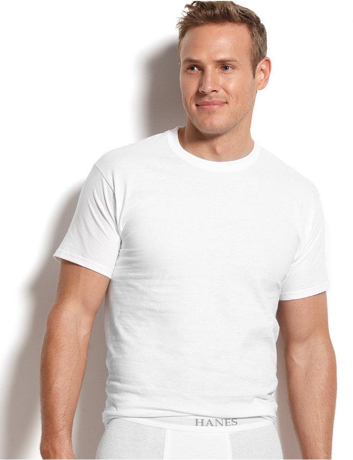 Hanes Platinum Men 39 S Underwear Crew Neck T Shirt 5 Pack