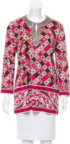 Tory BurchTory Burch Silk Embellished Tunic