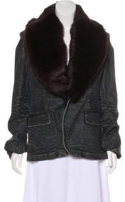 Denim & Supply Ralph Lauren Shearling-Trimmed Denim Jacket