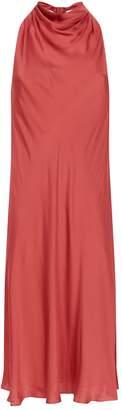 Theory Draped Silk Midi Dress