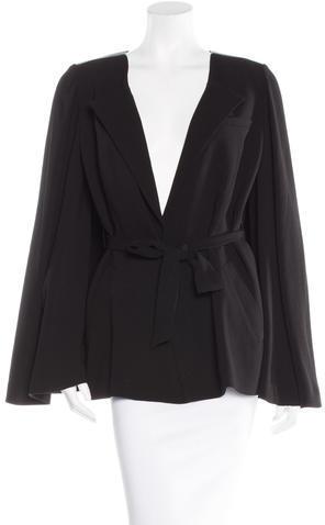 Alexander WangAlexander Wang Structured Leather-Trimmed Jacket