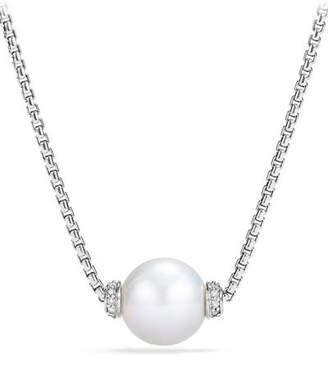 David Yurman Solari Pearl Pendant Necklace w/ Diamonds