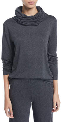 Norma Kamali Oversized Turtleneck Long-Sleeve Top