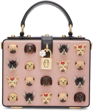 Dolce & Gabbana Pink Dogs Box Bag