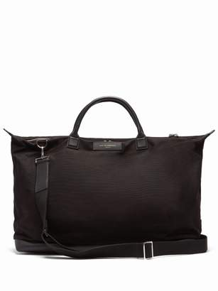 WANT Les Essentiels Hartsfield Leather Trimmed Cotton Canvas Holdall - Mens - Black