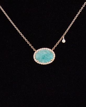 Meira T 14K & Silver 3.42 Ct. Tw. Diamond & Blue Amazonite Necklace