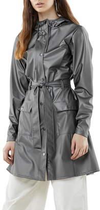 Rains Curve Waterproof Hooded Raincoat