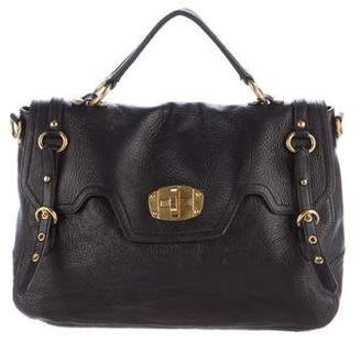 Miu Miu Leather Flap Satchel