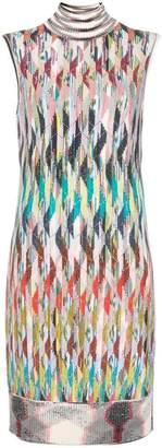 Missoni striped knitted turtleneck dress