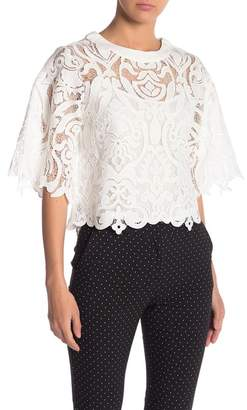 Gracia Lace Round Neck Top