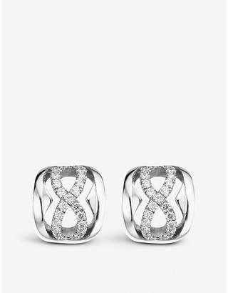 BUCHERER JEWELLERY 18ct white-gold and diamond earrings