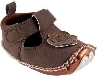 Luvable Friends Newborn Baby Girl Mary Jane Dress Shoe