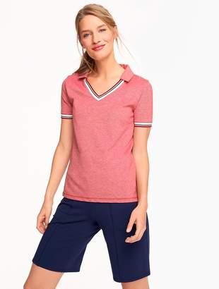Talbots UPF 50 Pique Polo Shirt