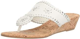 Rampage Women's Scheena Thong Cork Low Wedge Sandal