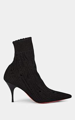 Christian Louboutin Women's Sandrine Tricot & Lurex Ankle Boots - Version Black