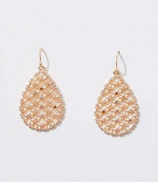 LOFT Crystal Filigree Drop Earrings