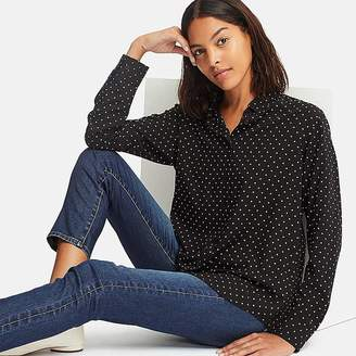 Uniqlo Women's Rayon Printed Long-sleeve Blouse