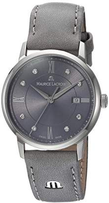 Maurice Lacroix Women's Eliros Stainless Steel Swiss-Quartz Watch with Leather Calfskin Strap