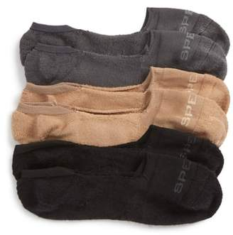 Sperry 3-Pack Microfiber Liner Socks
