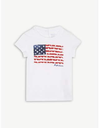 Ralph Lauren American flag print cotton T-shirt 3-24 months