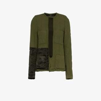 Haider Ackermann Collarless Jacket with Patch Details