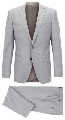 36eca6e5 BOSS Hugo Slim-fit suit in virgin wool natural stretch 44L Grey